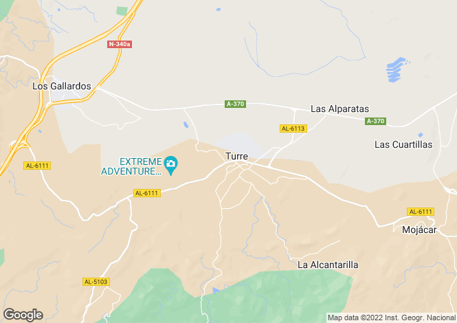 Map for Andalucia, Almería, Turre
