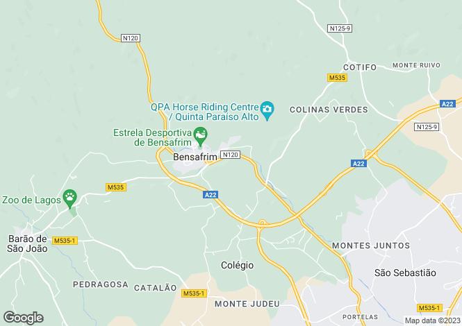 Map for Bensafrim, Algarve, 8600-069, Portugal