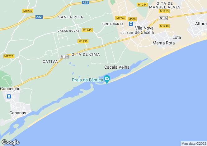 Map for Vila Nova de Cacela, Algarve