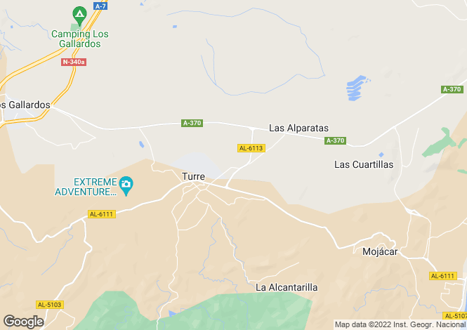 Map for Spain - Andalucia, Almería, Turre