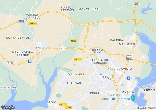 Map for Algarve, Penina