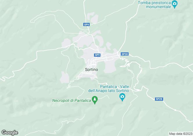 Map for Sortino, Syracuse, Sicily