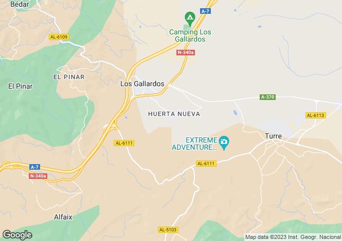 Map for Los Gallardos, Almería, Andalusia