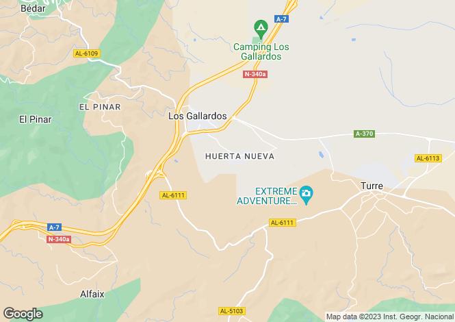 Map for Andalusia, Almería, Los Gallardos