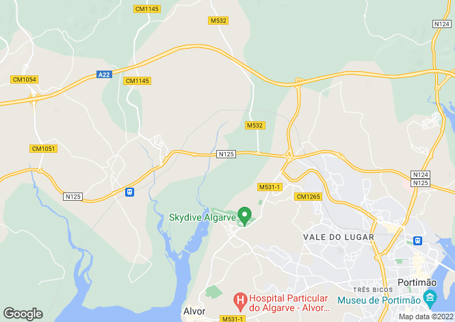 Map for Algarve, Alvor