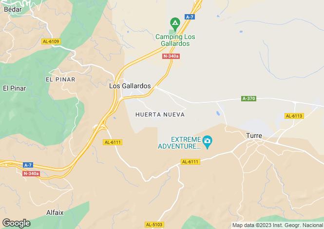 Map for Los Gallardos, Spain