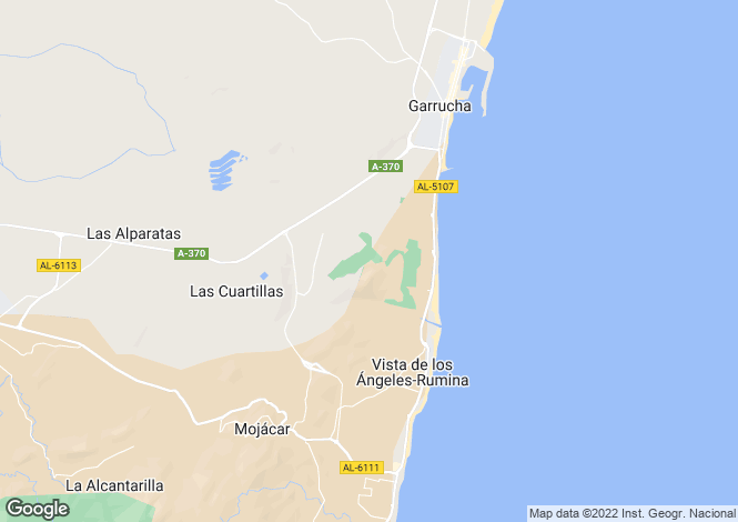 Map for Andalucia, Almería, Mojácar
