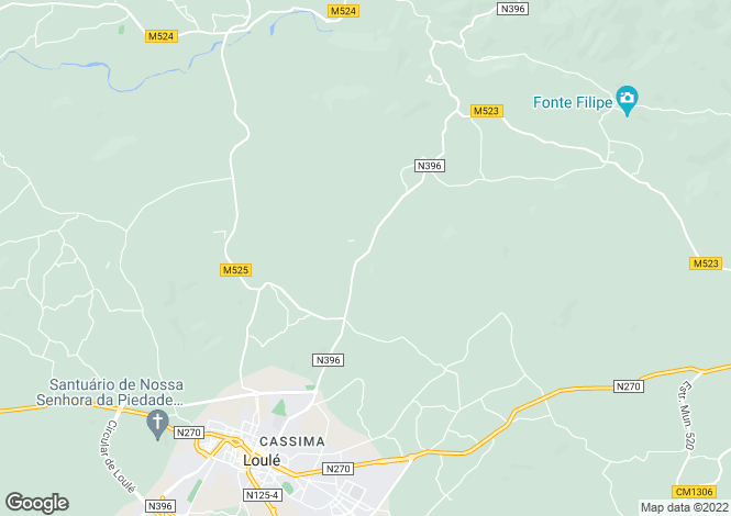 Map for Loulé (São Clemente), Loulé, Faro