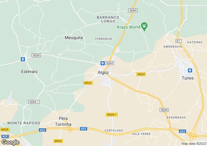 Map for Silves, Algarve