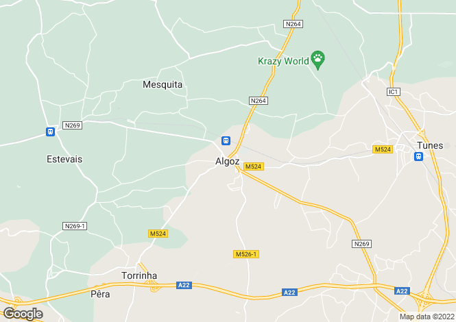 Map for Silves, Portugal