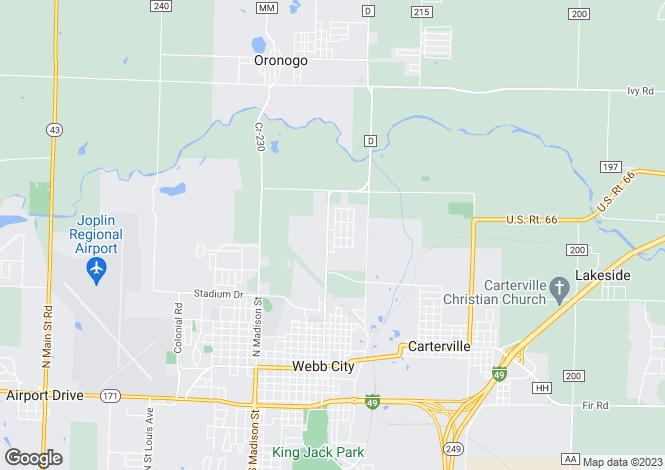 Map for USA - Missouri