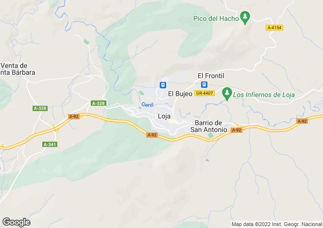 Map for Loja