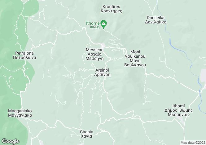 Map for Mavrommati, Messinia, Peloponnese