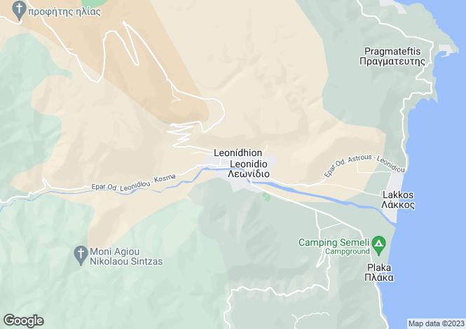 Map for Leonidi, Arcadia, Peloponnese