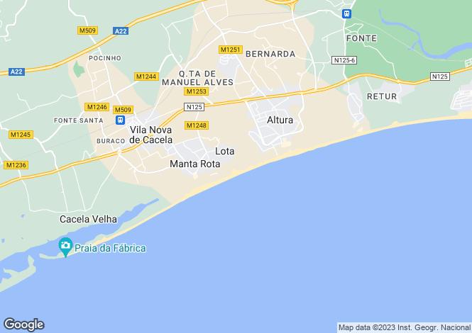 Map for Algarve, Manta Rota