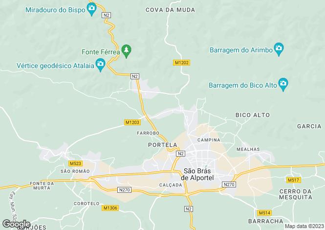 Map for São Brás de Alportel, Algarve