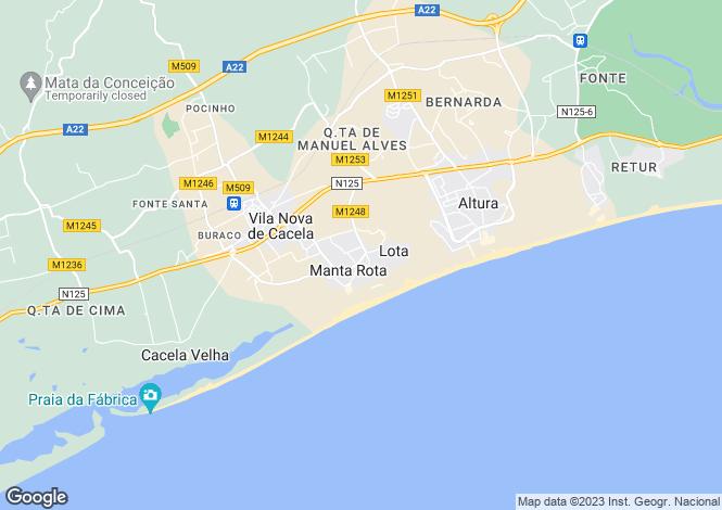 Map for Manta Rota, Algarve