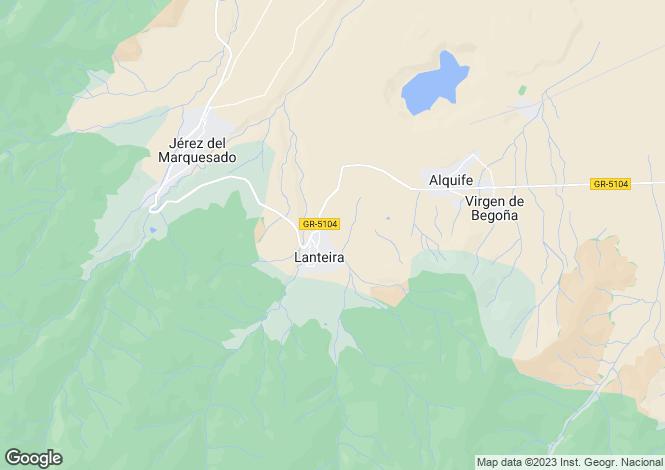 Map for Guadix, Granada, Andalusia