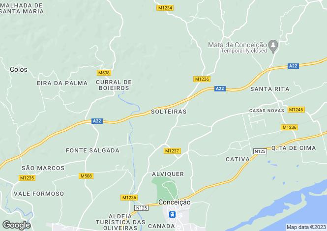 Map for Algarve, Conceicao