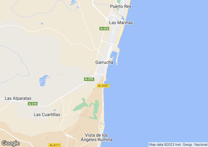 Map for Andalucia, Almería, Garrucha