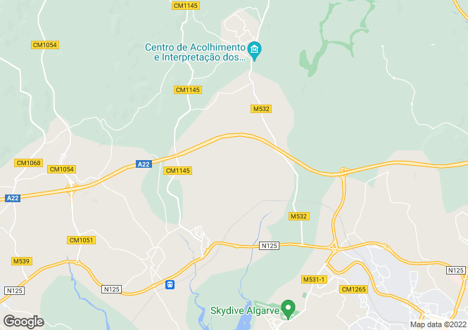 Map for Algarve Western, Portugal