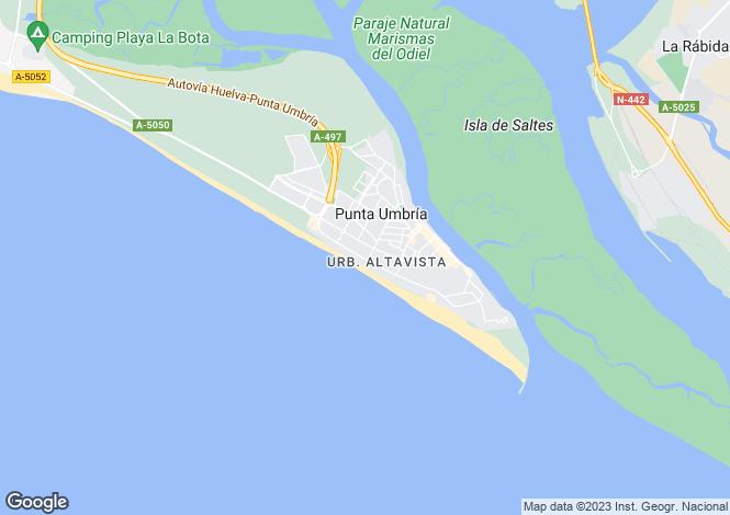 Map for Punta Umbría, Huelva, Andalusia