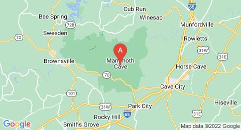 map of Mammoth Cave (United States of America)