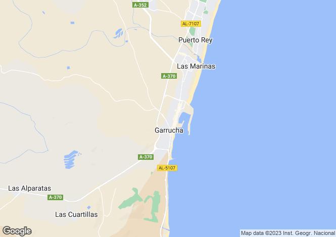 Map for Garrucha, Almería, Andalusia