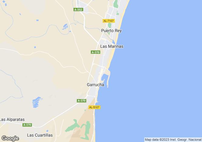 Map for Andalusia, Almería, Garrucha