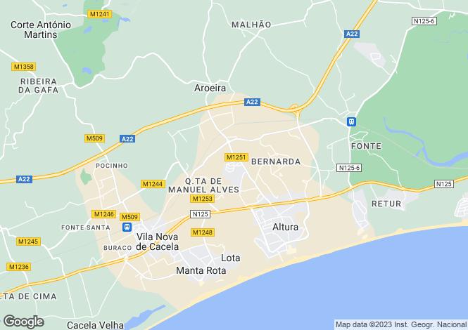 Map for Altura, Algarve