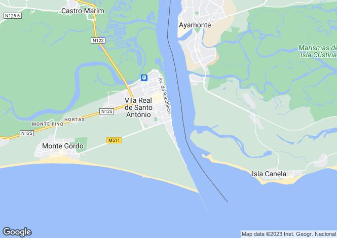 Map for Algarve, Vila Real de Santo António