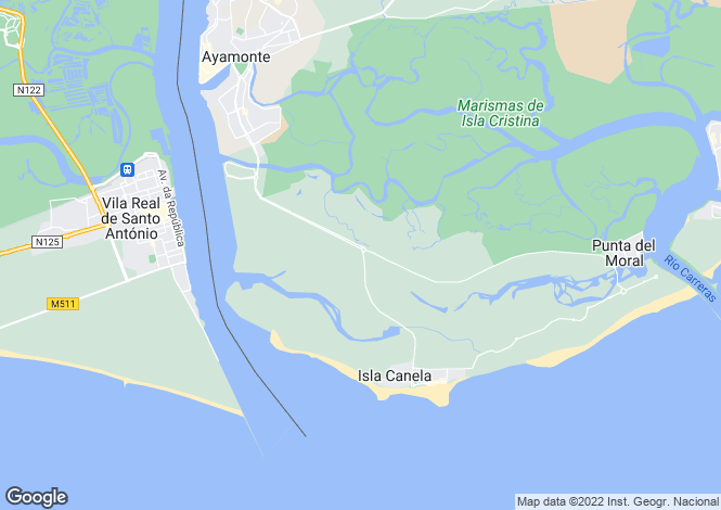 Map for Isla Canela, Huelva, Andalusia