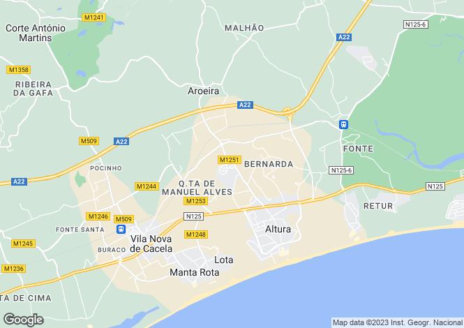 Map for Algarve, Altura