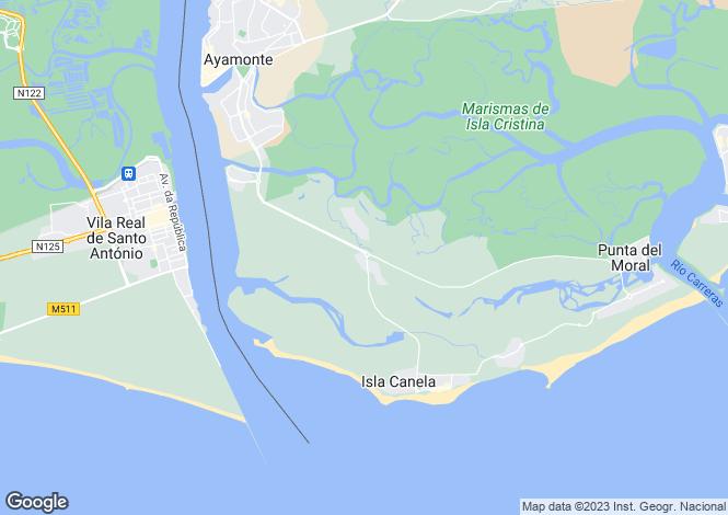 Map for Ayamonte, Huelva, Spain