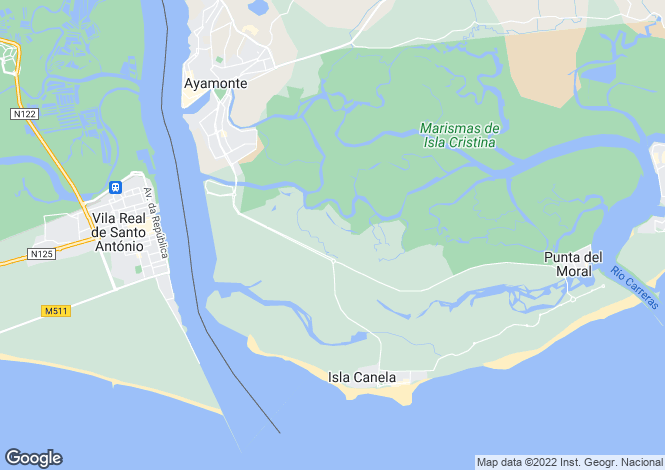 Map for Ayamonte, Huelva, Andalusia