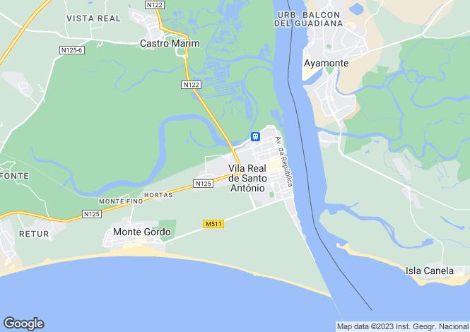 Map for Vila Real de Santo António, Algarve