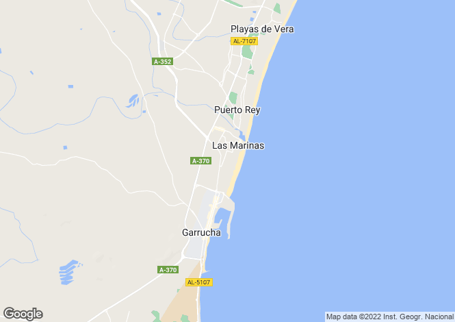 Map for Andalucia, Almería, Vera Playa