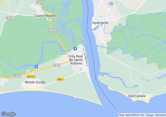 Map for Vila Real de Santo António, Vila Real de Santo António, Faro