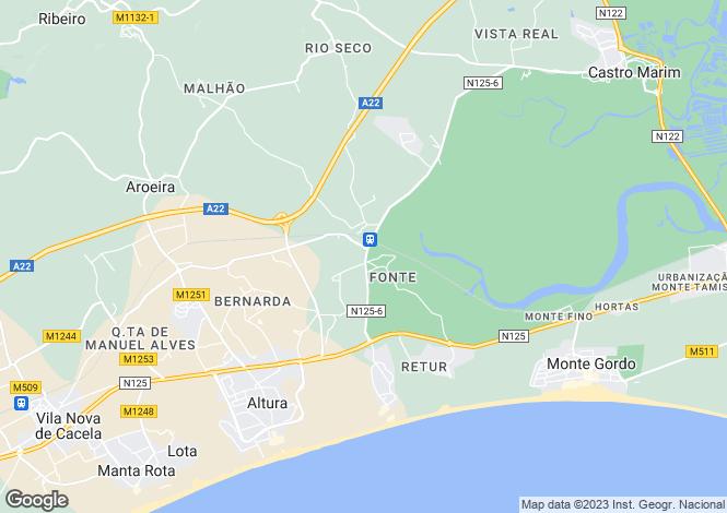 Map for Castro Marim, Castro Marim, Faro