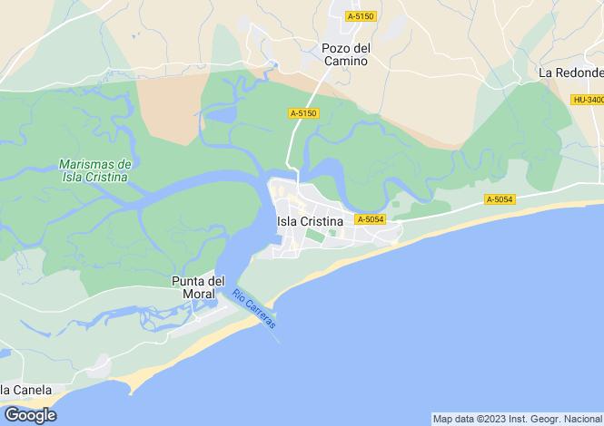 Map for Andalucia, Huelva, Isla Cristina