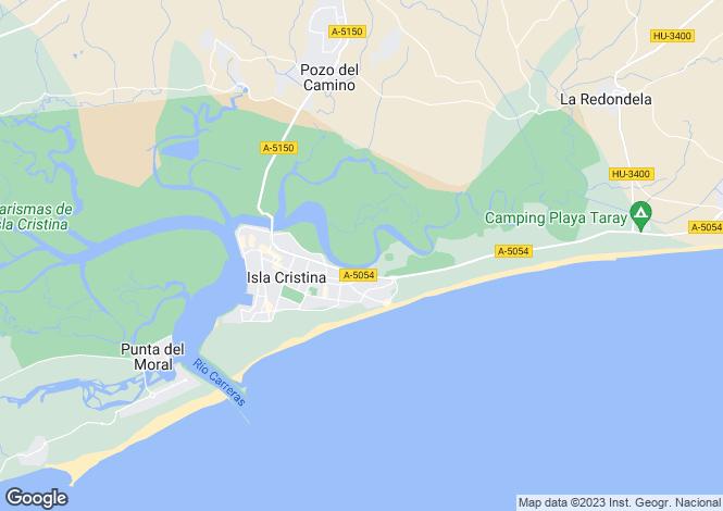Map for Isla Cristina, Huelva, Andalusia