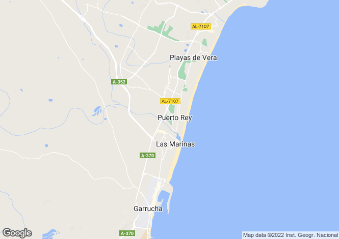 Map for Vera Playa, Almería, Andalusia