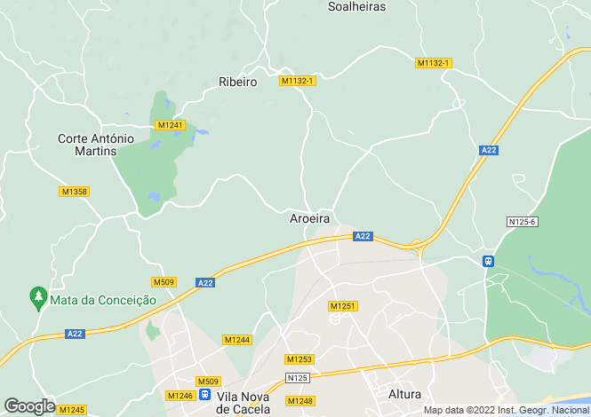 Map for Algarve, Altura