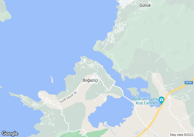 Map for Mugla, Bodrum, ADABUKU
