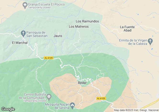 Map for Bédar, Almería, Andalusia