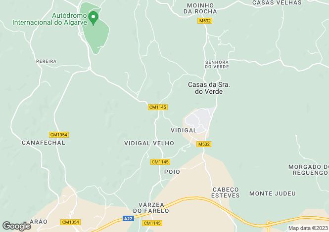 Map for Algarve, Alcalar
