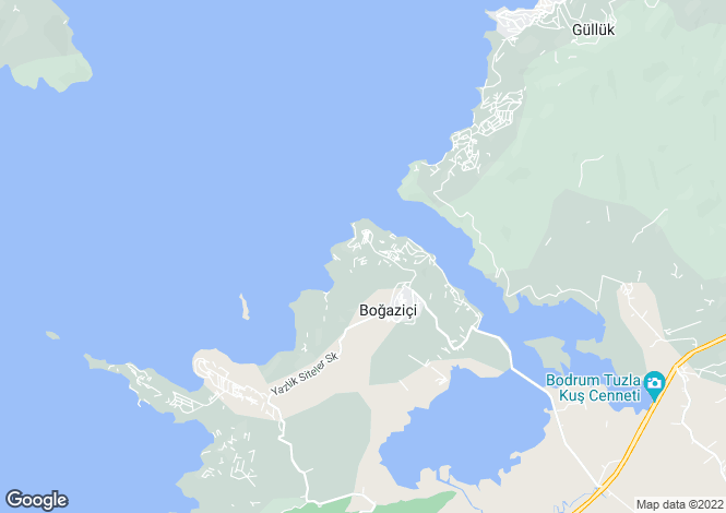 Map for Mugla, Bodrum, G�vercinlik