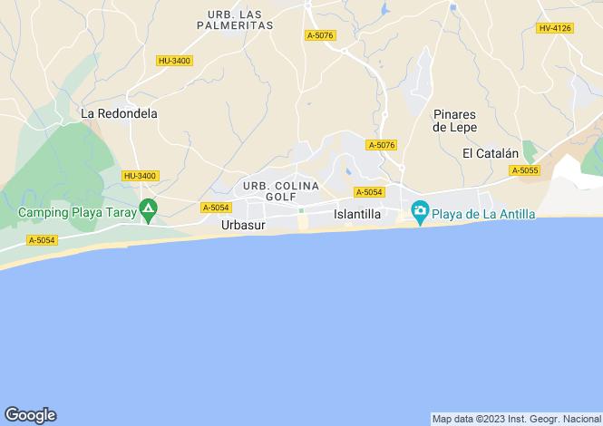 Map for Islantilla, Huelva, Andalusia