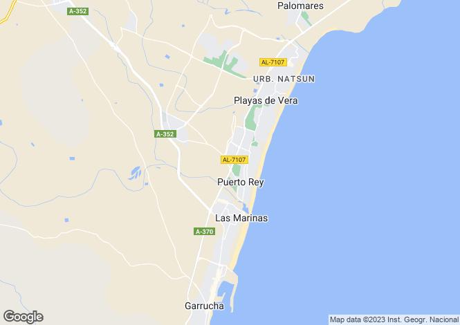 Map for Andalucia, Almería, Vera
