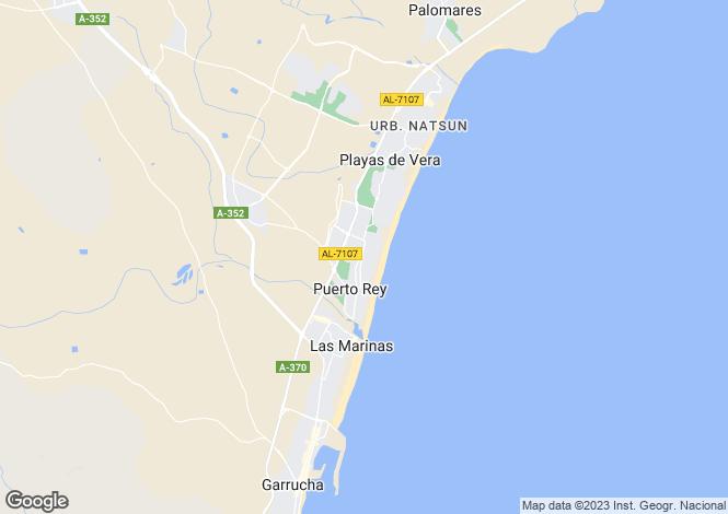 Map for 3 bedroom house in Vera Playa, Almeria, Spain